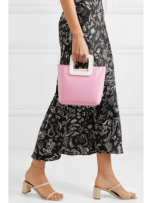 STAUD shirley mini patent-leather tote