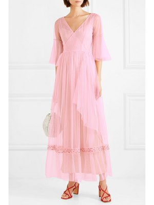 STAUD stella bead-embellished tulle wrap maxi dress