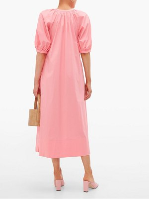STAUD vincent cotton poplin midi shirtdress