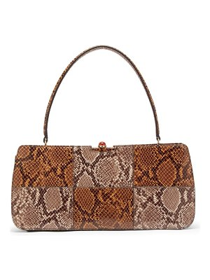 STAUD whitney python effect leather shoulder bag