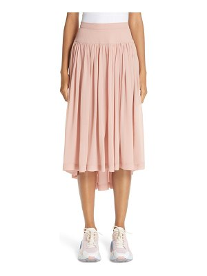 Stella McCartney andrea gathered silk midi skirt