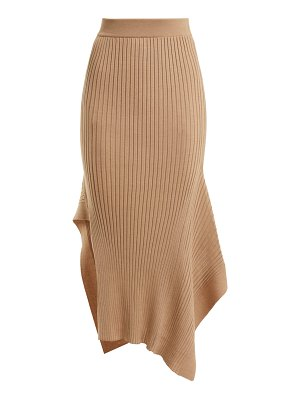 Stella McCartney Asymmetric ribbed-knit skirt
