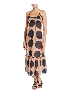 Stella McCartney Ballet Dots Flounce Coverup Maxi Dress