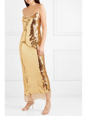 Stella McCartney bernice open-back sequined silk-mousseline gown