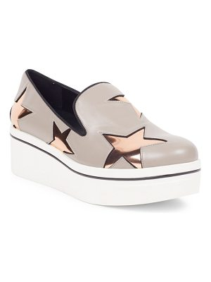 Stella McCartney binx metallic star platform loafers