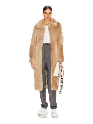 Stella McCartney blinman faux fur long coat