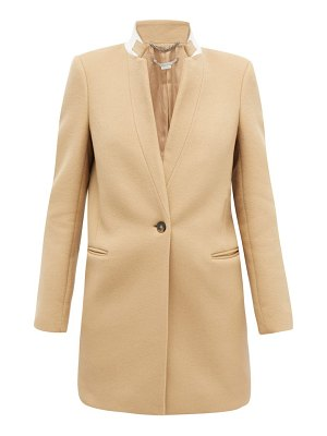 Stella McCartney bryce band-collar wool coat