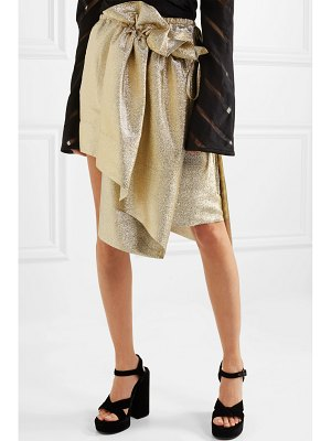 Stella McCartney brynn asymmetric gathered lurex skirt