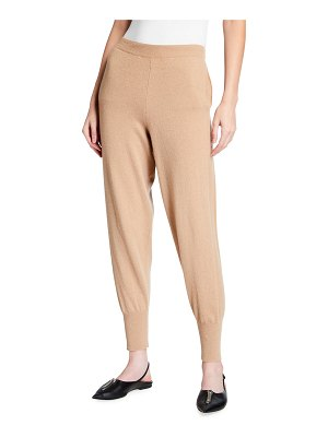 Stella McCartney Cashmere-Wool Ribbed Tapered Trousers