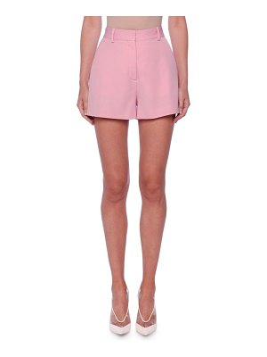 Stella McCartney Classic Flat-Front Wool Shorts