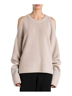 Stella McCartney cold shoulder ribbed sweater