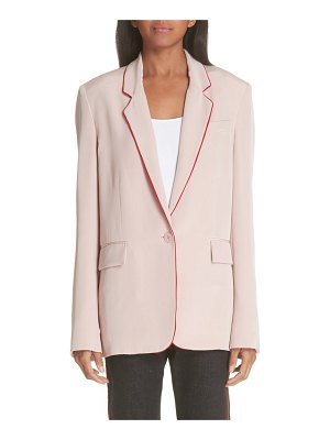 Stella McCartney contrast piping silk blazer