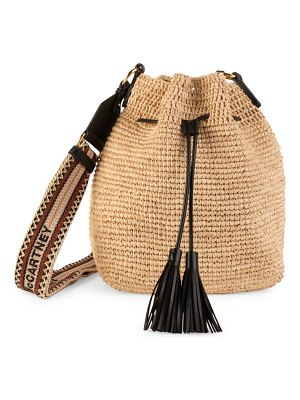 Stella McCartney crochet raffia tote bag