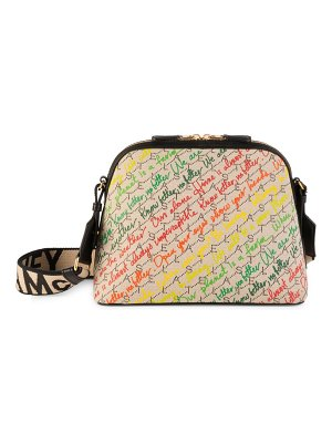Stella McCartney cursive monogram canvas crossbody bag