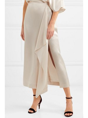 Stella McCartney draped satin midi skirt