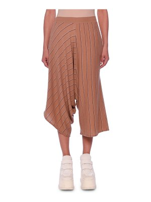 Stella McCartney Drop-Rise Pinstripe Wool Wide-Leg Pants