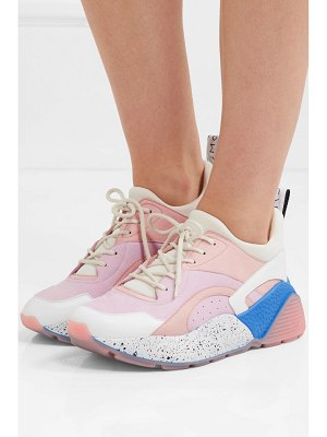 Stella McCartney eclypse faux suede, leather and neoprene sneakers