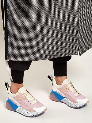 Stella McCartney Eclypse low-top contrast-panel trainers