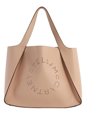 Stella McCartney Eco soft laser perforated logo tote bag