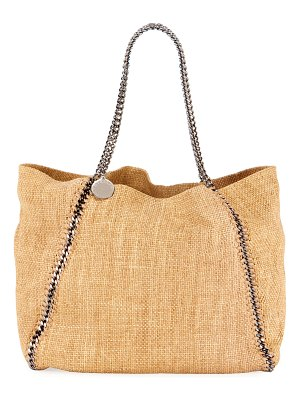 Stella McCartney Falabella Medium Reversible Raffia Tote Bag