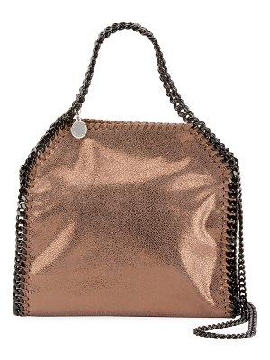 Stella McCartney Falabella Mini Shiny Dotted Chamois Tote Bag