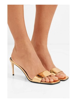 Stella McCartney faux mirrored-leather mules