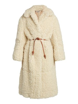 Stella McCartney faux-shearling runway coat