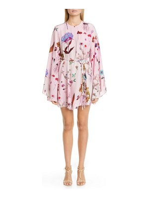 Stella McCartney floral print long sleeve silk minidress