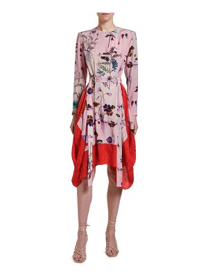 Stella McCartney Floral-Print Silk Handkerchief Dress