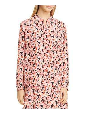 Stella McCartney floral silk long sleeve blouse