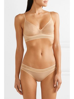 Stella McCartney grace glowing stretch-tulle soft-cup triangle bra