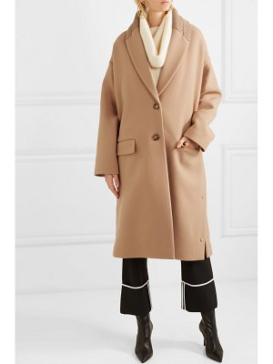 Stella McCartney knit-trimmed wool coat
