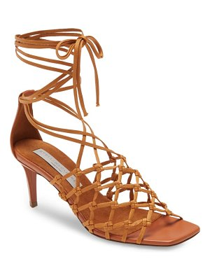 Stella McCartney knotted cage ankle tie sandal