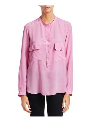 Stella McCartney long sleeve half button-down blouse