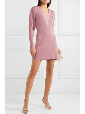 Stella McCartney metallic knitted mini dress