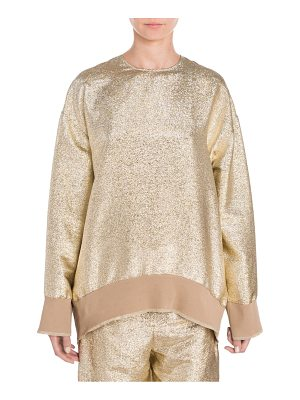 Stella McCartney metallic lurex sweatshirt