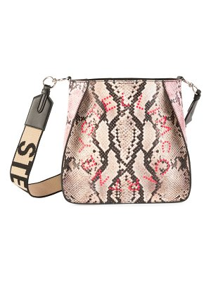 Stella McCartney mini stella logo snakeskin-embossed shoulder bag