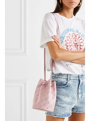 Stella McCartney net sustain mini perforated faux leather bucket bag