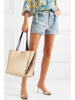 Stella McCartney net sustain perforated metallic faux leather tote