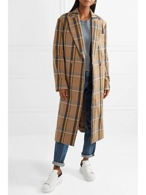 Stella McCartney oversized double-breasted checked wool coat