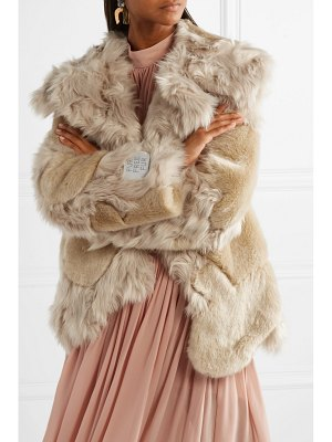Stella McCartney oversized patchwork faux fur coat