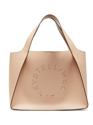 Stella McCartney perforated-logo faux-leather tote bag