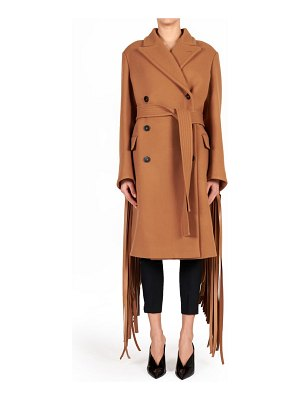 Stella McCartney pheobe fringe double breasted wool coat