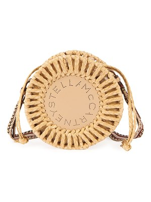 Stella McCartney Round Woven Raffia Shoulder Bag