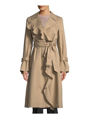 Stella McCartney Ruffle-Trim Cotton Trench Coat