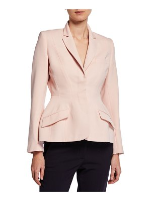 Stella McCartney Sculpted Waist Fitted Wool Jacket