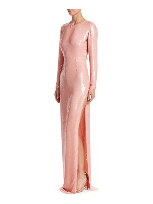 Stella McCartney sequin side slit column gown