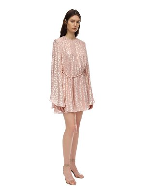 Stella McCartney Silk & lurex jacquard mini dress