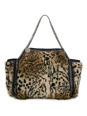 Stella McCartney Small Falabella Snow Cat Fur Free Fur Reversible Tote Bag