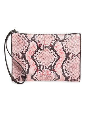 Stella McCartney snake print faux leather clutch
